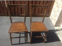 2 vintage/antique chairs