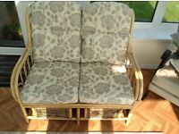 Conservatory Bamboo Settee and Chairs