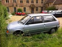 Citroen AX 11TRE (series 1 - 645kg kerbweight) 70689 miles To be removed complete Spares or repairs