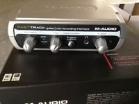 M-Audio Fast Track USB Audio Interface plus Pro tools recording software.