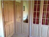 Washed Ash Mirror Wardrobe Doors x 4 New