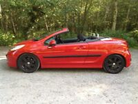 PEUGEOT 207cc 1.6 Sport. Only 53.445 miles, full service history.