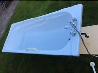Light grey Armitage Shanks Retro Acrylic Bath