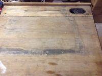 Solid wood vintage childrens desk