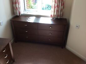Chest of drawers and bedside tables