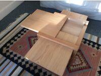 Oak Four Leaf Coffee Table - Futon Company - EXCELLENT CONDITION!!