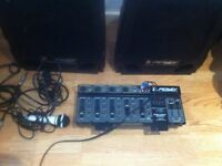 Peavey Escort 200 150w PA system (no case and 1 speaker not working)