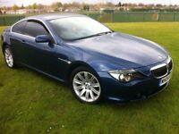 BMW 645CI BLUE COUPE PANORAMIC ROOF LONG MOT (6 SERIES 645, 630 ci, 635d, 745, cl500)