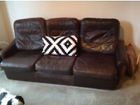 Brown leather sofa FREE!!!!