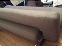 The most beautiful Ligne Roset / Roche Bobois fabric beige grey sofa bed settee