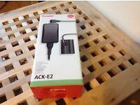 Canon AEK E2 mains adaptor, mint, for 300D 10D to 40D 50D D30 D60 cameras BP511 BP511A batteries