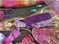 Barbie doll and DVD collection