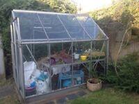 Aluminium framed greenhouse - 6' x 8'