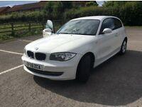 BMW 1 series 116i 3 door hatchback in polar white