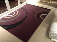 "Large Purple ""ripples"" Rug 161 cm x 228 cm"