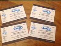 X4 Tickets to see dodgy