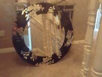 Large circular , heavy weight designer mirror, ex show house