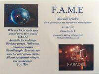 F.A.M.E disco/Karaoke hire