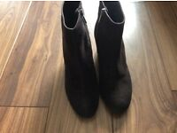 Russell & Bromley ladies chocolate brown Aquatalia wedge boots. Size 39.5