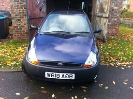 2000 Ford Ka 1.3, 6 month MOT, 76,000, good tyres, new exhaust