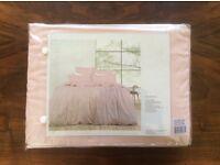 Brand new, pale pink linen duvet set