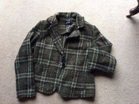 M and s tartan green jacket size 14 only worn a few times