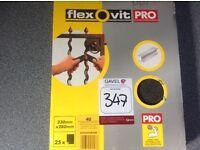 NEW FLEXOVIT PRO EXTRA COURSE SANDPAPER - 230mm x 280mm 25 sheets.
