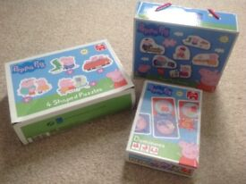 Peppa pig puzzles and dominoes