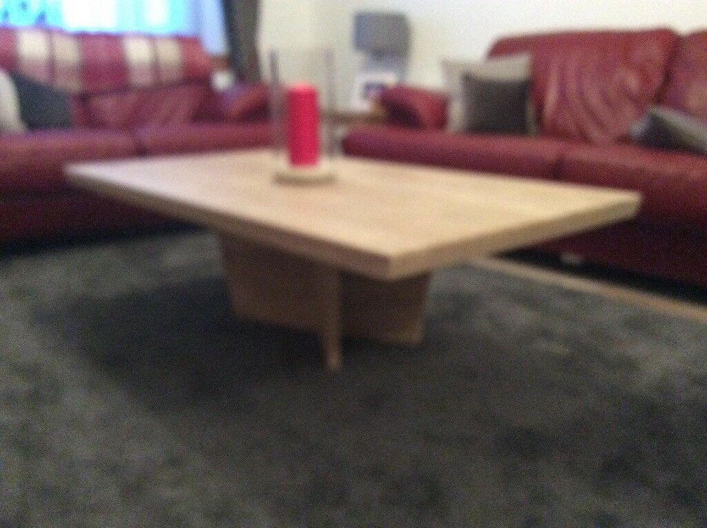 IVORY COLOURED GENUINE MARBLE COFFEE TABLE