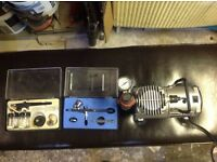 Airbrush plus compressor For sale buyer to collect