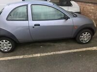 ford ka ,1.3 11 months mot v reg done 1500 miles in last 4 years mot proof , good runner