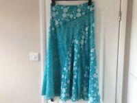 Per Una Skirt, Mint/White
