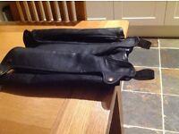 Tredstep full leather half chaps
