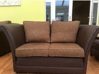 Brown 2 setter and 3 setter sofa