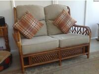 Three piece cane furniture suite