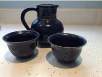 French cider jug and cups