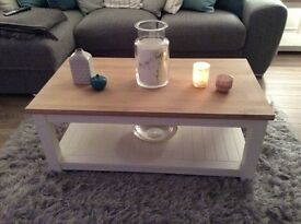 NEW - 2 weeks old - coffee table- TV unit - 2 x lamp tables
