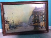Antique print in glass covered frame