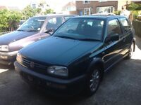GTI mrk 3 golf in green braking selling all parts or whole car for £200