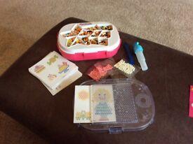 Hama beads and aqua beads