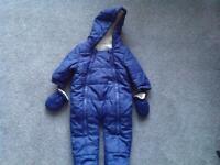 0-3 Months Boy snow suit