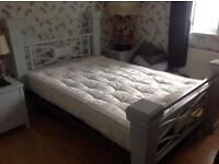 Double Bed and side Bedside Cabinets