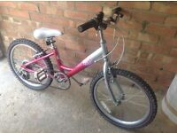 Raleigh Stars Girls bike, suit 7 - 10 year old