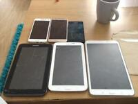 Bundle of Samsung Galaxy phones and tablets, see description.