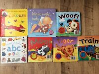 Baby sounds books, learning colors and ABC books x 7 items all in good condition.