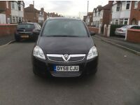2008 Vauxhall zafira 1.6 Breeze 5dr estate petrol manual 7 seater black colour full history £2395.