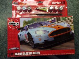 Airfix Model car (Starter Set)- Aston Martin DBR9 - Brand new and unopened