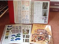 Dolls' house book and folders full of ideas and resources.