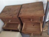 X2 bed side drawers