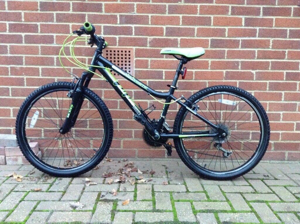 "Cuda Mountain bike - Aprox age 8-12yrs 24"" wheels 18 speed Shimano gear set. FWO"
